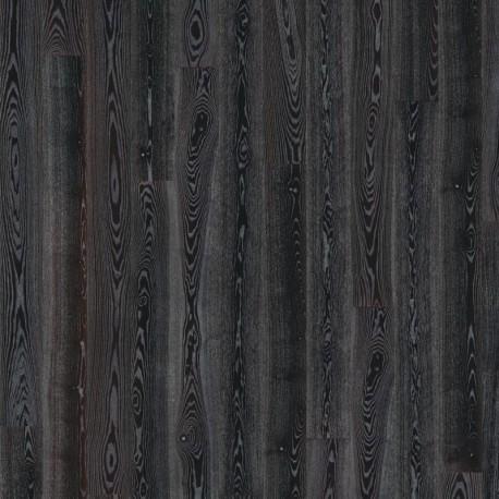 Паркетная доска Ясень Черное серебро 1-пол,Сити,глян.Лак,мик.фаск,черный,серебро в порах 2420x187x15