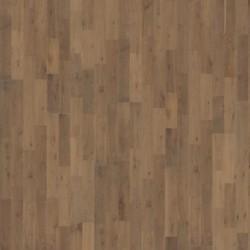 Паркетная доска дуб Гранит 2.91, 2-полосн., мат. лак, браш, серо-коричн. 2423х200х15